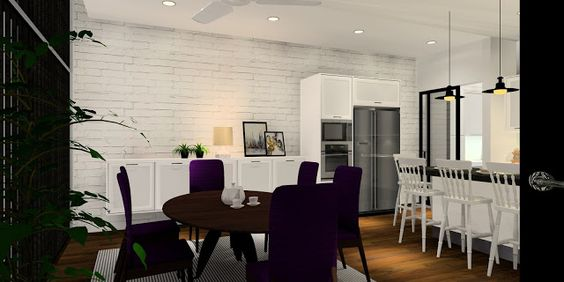Meridian Interior Design - interior design ideas, tips and all things decor...: Contemporary Charm Kitchen Design