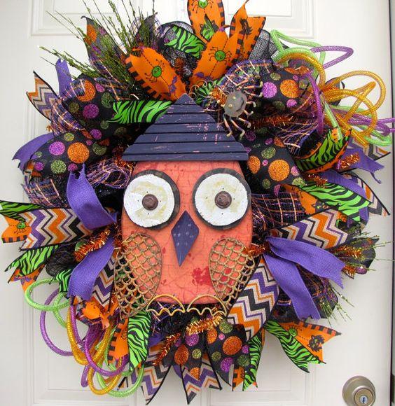 Deluxe Halloween Black Green Orange and Purple by NicoleDCreations, $109.99