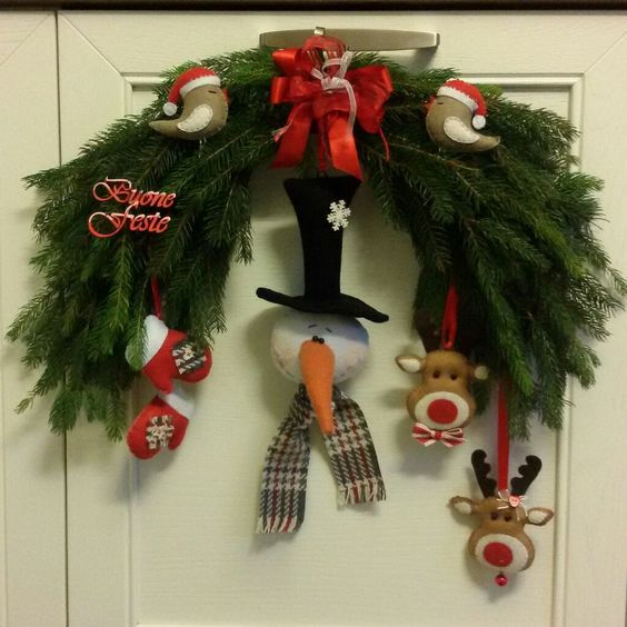 2015 Christmas felt wreath