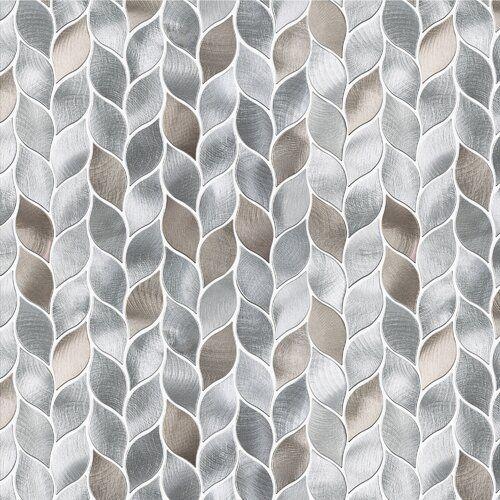 Leaf 12 X 14 Metal Mosaic Tile Metal Mosaic Tiles Mosaic Tiles Grey Mosaic Tiles