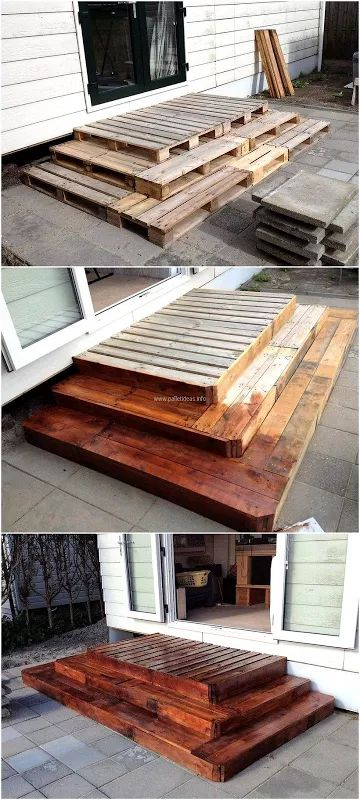 diy pallet front deck #easypalletprojects #beginnerwoodworking #easywoodworkingtutorials #woodworkingtutorials #DIYprojects #easyDIYprojects #diyhomedecor #diyfurniture