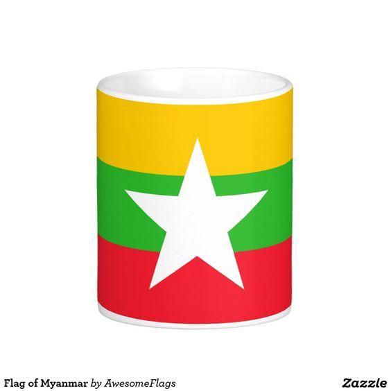 Flag of Myanmar Basic White Mug