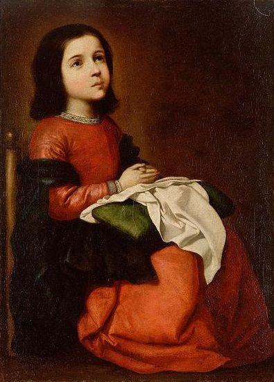 Francisco de Zurbarán, (1658-1660): María Niña.