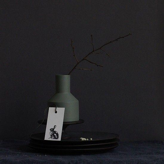 Schwarz auf weiß: Stempel Hase von Perlenfischer, Blankoanhänger von la mesa wohnaccessoires