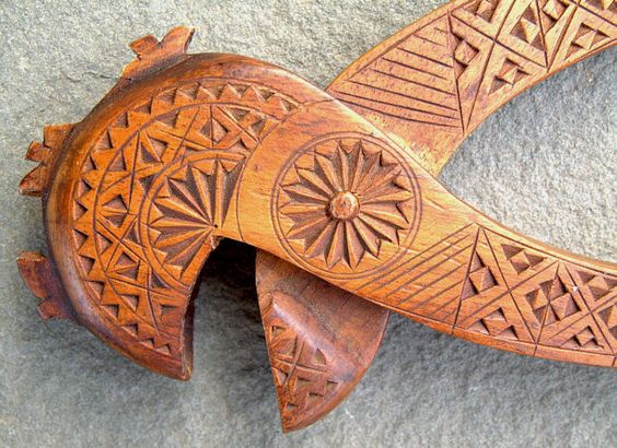Th century chip carved german nut cracker good folk art