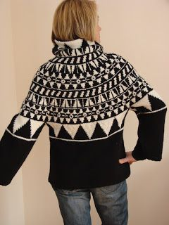Outstanding Crochet: Black & White. Pullover. Knit 'n Style February 2010 issue 165