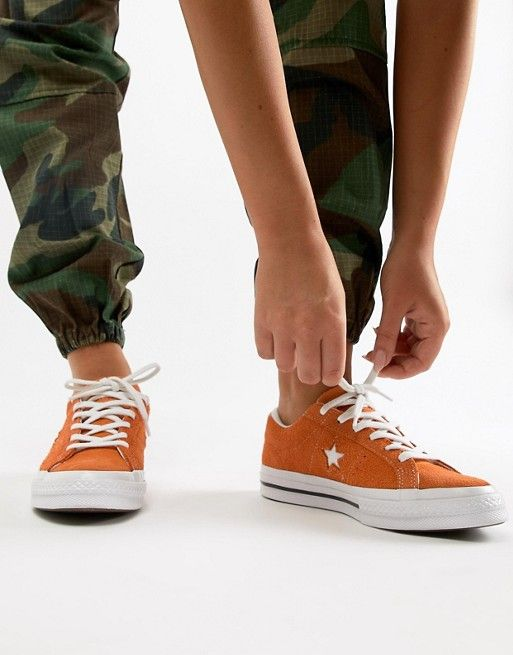 Converse One Star Suede Sneakers In