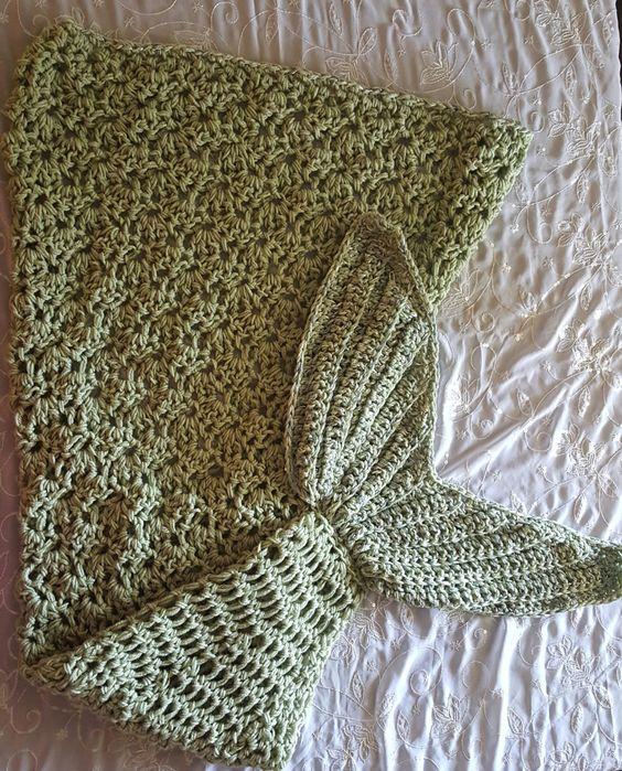 Shells, Mermaid tail blanket and Mermaids on Pinterest