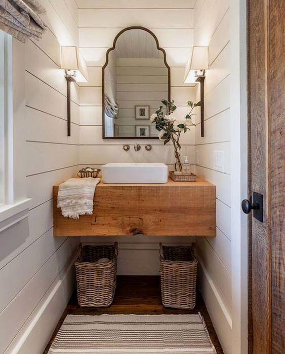 Whether It Is Teensy Shower Stall Powder Room Or A Small Bathroom A Not So Functional W Diy Bathroom Remodel Modern Farmhouse Bathroom Small Bathroom Remodel
