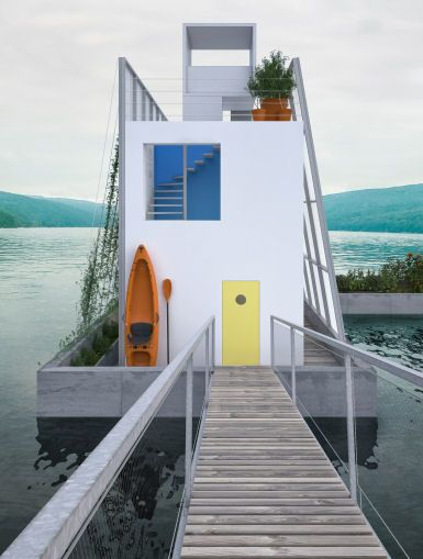 The Floating House by Carl Turner Architects in United Kingdom
