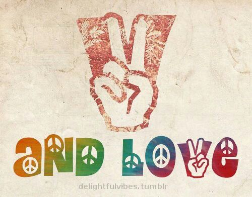 ☮ American Hippie Psychedelic Art ~ Peace Sign ☮