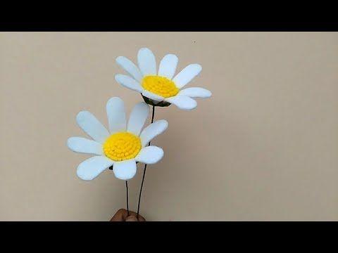 Diy Felt Flowers Daisy Cara Membuat Bunga Flanel Daisy Youtube