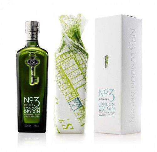 No.3 London Gin - great paper wrap and secondary packaging