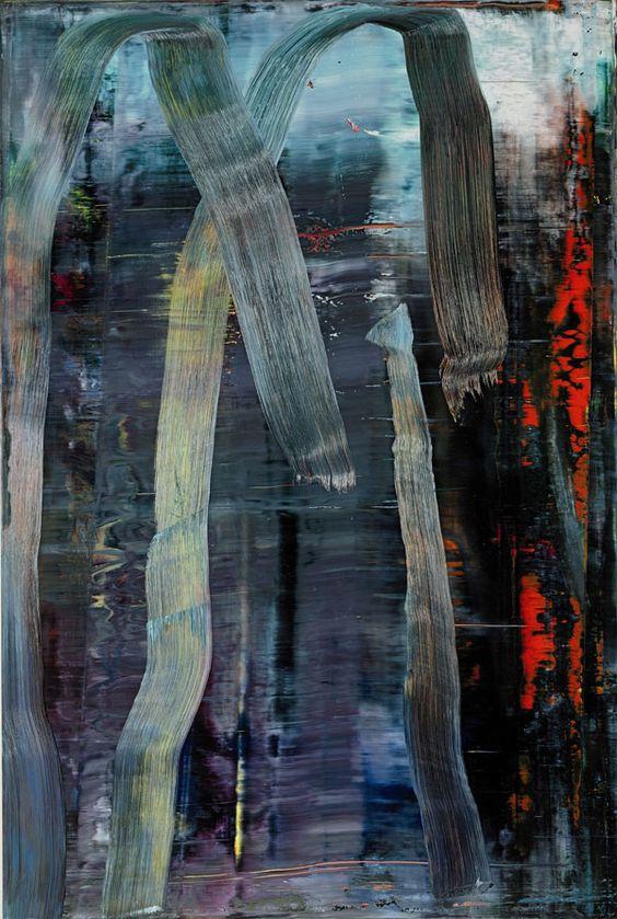 Gerhard Richter, Wald, 2005, Öl auf Leinwand, 197 x 132 cm, Collection of Warren and Mitzi Eisenberg, a promised gift to the Museum of Modern Art, New York, © Gerhard Richter.