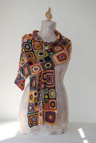crochet shoulder wrap by marylene lynx, via Flickr