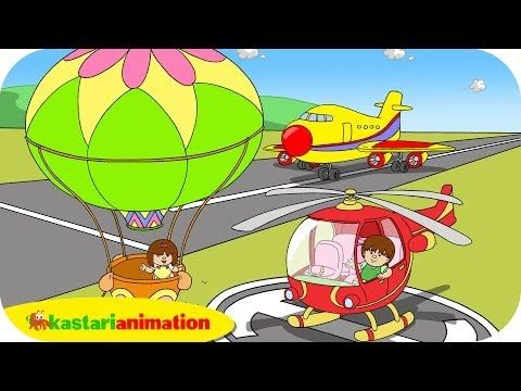 Kutahu Nama Kendaraan Balon Udara Helikopter Pesawat Terbang Kastari Animation Official Youtube Wallpaper Kartun Helikopter Balon Udara