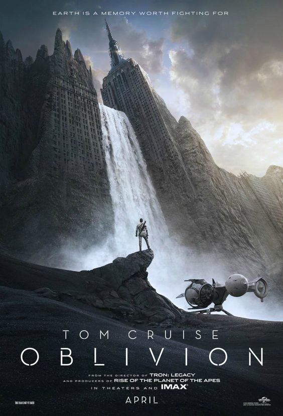 "The first poster for ""Oblivion,"" a sci-fi flick where mankind lives in the clouds. Starring Tom Cruise. (Universal Pictures)"