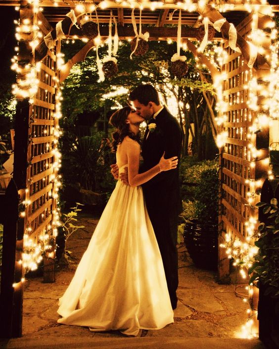 Wedding Ideas For Evening Reception: Florida Outdoor Evening Reception Tents With Lights