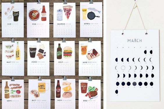 Calendar Ideas Photo : Calendar cards design pinterest