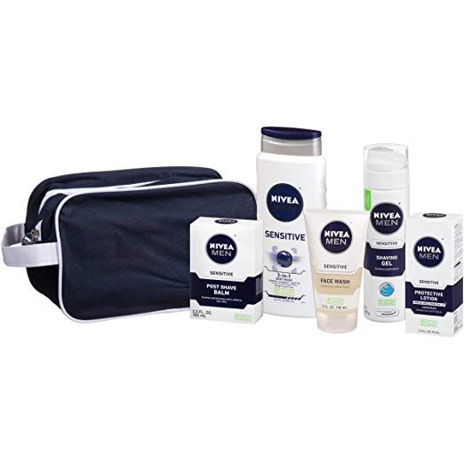 Amazon Nivea For Men Sensitive Collection 5 Piece Gift Set Just 12 50 After Clipping The Extra 50 Off Coupon Reg 25 As Of 8 2 2018 10 04 Pm Cdt Dea Skincare Gift Set Mens Skin Care Skin Care Kit