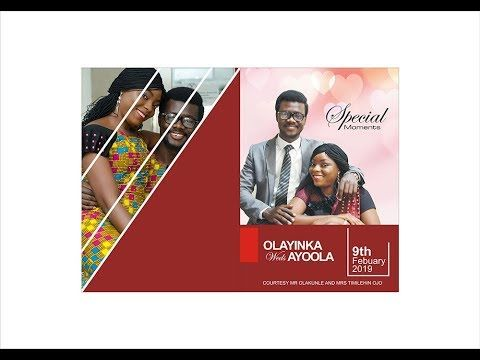 Designing Wedding Jotter Of A Nigerian Couple In Coredraw X3 Grapic Design Jotter Wedding Flyers