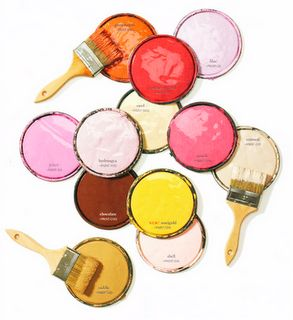 paint, colorful, diy, d.i.y, crafts, pink, yellow, brushes, paint brushes, color, colors