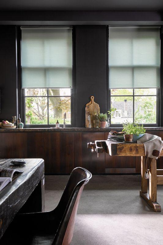 Luxaflex Rolgordijn Reflection Collectie Industriele Woonkamers Raamdecoratie Thuis