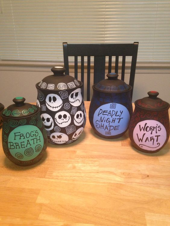 Tim Burton inspired canisters I made: