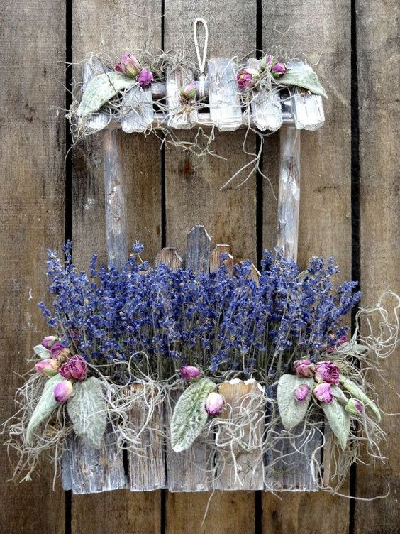 Lavender with Lamb's Ear - right up my alley! :):