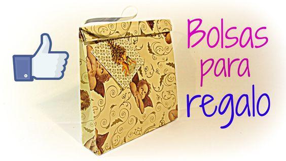 Aquí aprenderás a hacer de forma fácil y rápida bolsas para regalo con asa de cualquier tamaño. Más tutoriales: http://www.youtube.com/user/Gustamonton?featu...