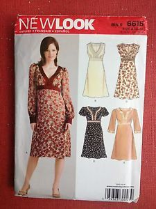 New Look 6615 Sewing Pattern Uncut Misses Dresses 5 Designs Size 10-22