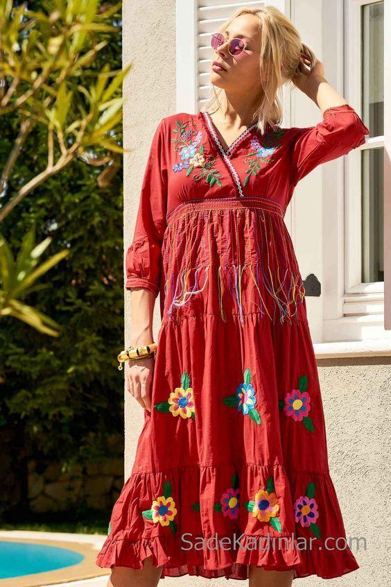 Bohem Yazlik Elbise Modelleri Ve Otantik Tarz Kiyafetler 2020 Bohem Elbise Elbise Modelleri Elbise