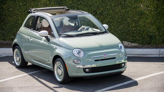 It's 1957 all over again, now in a Fiat 500 cabrio.
