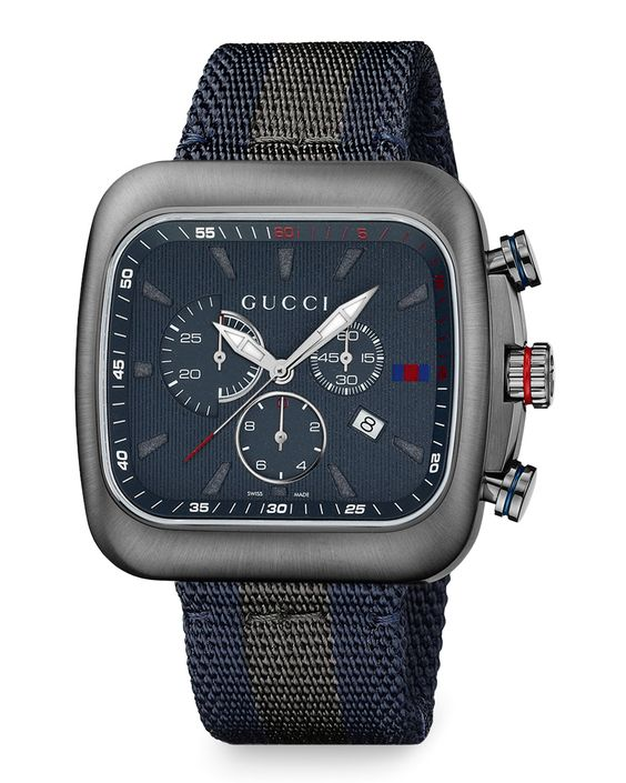 Coupe XL Chronograph Watch, Gray - Gucci