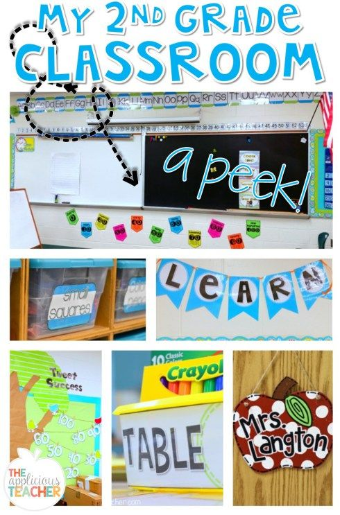 Take a peek at my second grade classroom. From organizing school supplies and math manipulatives to table numbers and wall decor, see how this teacher kept her room bright and colorful, but not overwhelming.