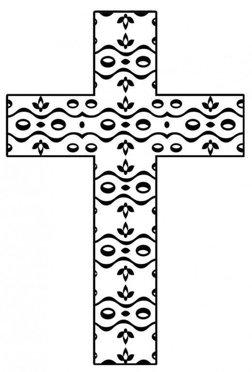 cross Coloring Pages | Coloring pages of crosses | Cross coloring ... | 766x520