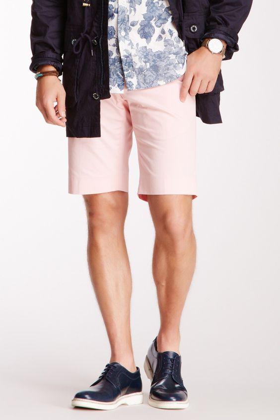 Arild Sunde Light Pink Solid Suit Short on HauteLook