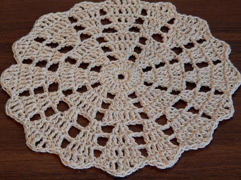 Crochet Lace Patterns Step By Step : Crochet doily Step by step Tutorial - YouTube Crochet ...