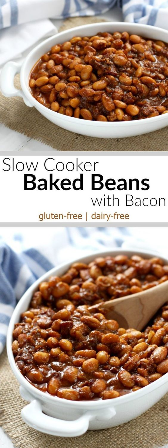 Slow Cooker Baked Beans with Bacon | Recipe | Bacon, The o ...