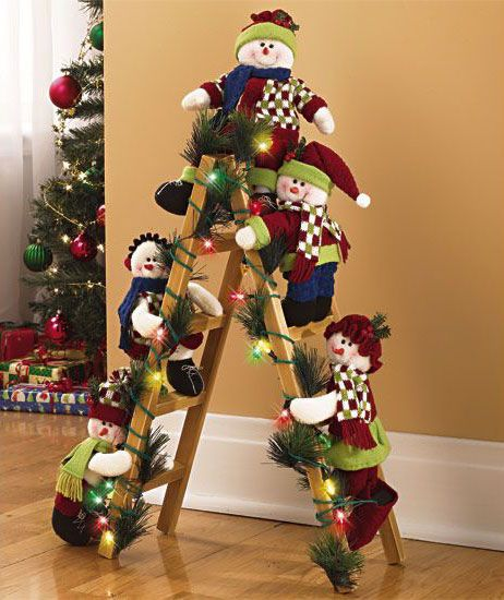 Árvore de Natal com escada