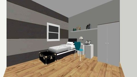 Small Grey Bedroom - by LaurenTheOwl95: