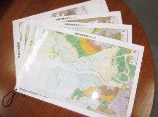 ラミネート加工された地図(A3サイズ)