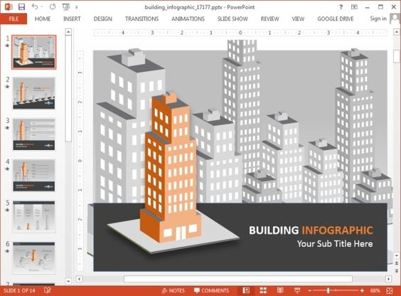 Buildings infographic template for PowerPoint | 免費資源 ...