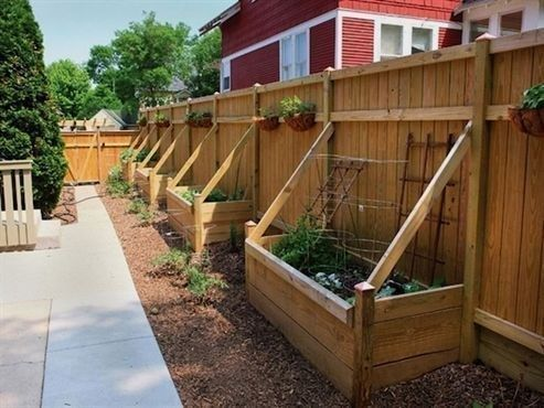Garden Design Fence Planters 54 Beautiful Yet Functional Privacy Fence Planter Boxes Ideas In 2020 Privacy Fence Designs Privacy Fence Landscaping Backyard Privacy