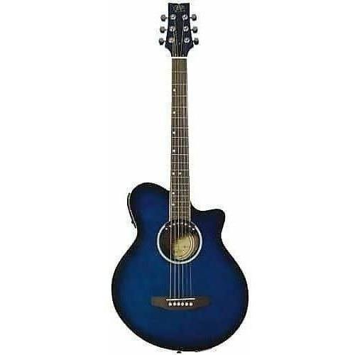 Jbp Auditorium Acoustic Electric Guitar Blue In 2020 Acoustic Electric Acoustic Electric Guitar Guitar