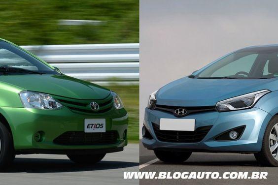 Toyota Etios e Hyundai HB20