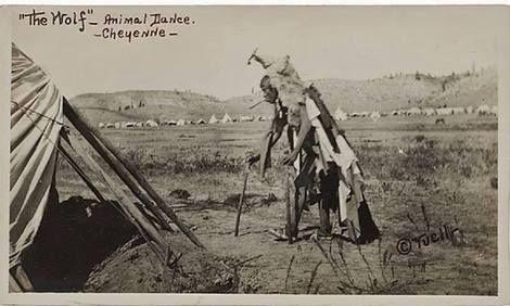?, The wolf  animal dance  Northern Cheyenne man - no date on ArtStack #artist-3 #art