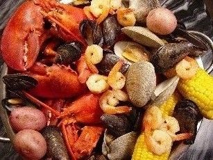 Traditional New England Clambakes with LIVE Maine Lobsters at www.QualityFreshSeafood.com