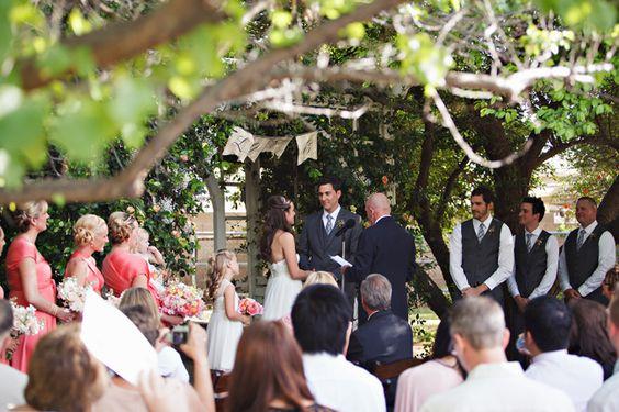 Sweet & Relaxed, Shabby Chic Backyard Wedding