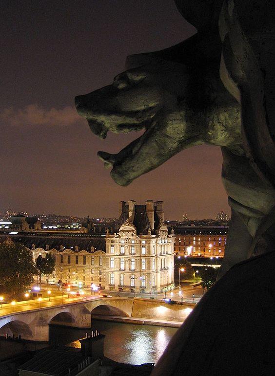 La vue depuis le toit du Musée d'Orsay. View from Orsay Museum roof, Paris.